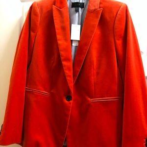 J crew red velvet blazer